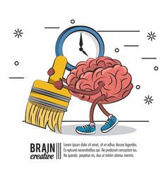 brain creative poster vector image