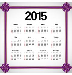 Calendar 2015 vector