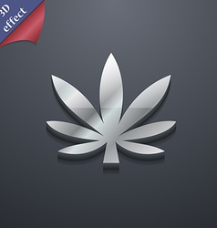 Cannabis leaf icon symbol 3D style Trendy modern vector image