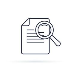 case studies line icon infographic element vector image