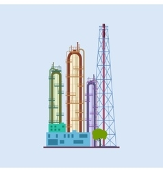 Chemical Plant Isolated vector