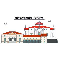 city of vicenza - veneto line travel landmar vector image