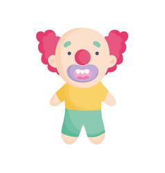 clown costume icon trick or treat happy halloween vector image