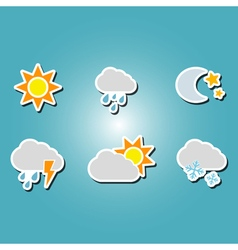 color icons with weather icons vector image