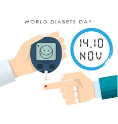 Concept world diabetes day vector