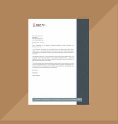 Corporate dark and light grey letterhead vector