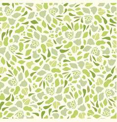 Cream pattern with succulent vector