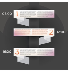 Design Infographic with Three Options vector image
