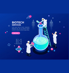 dna and blue science background vector image
