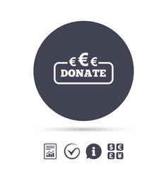 Donate sign icon euro eur symbol vector