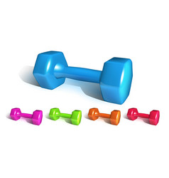 Dumbell fitness sportive equipment set vector