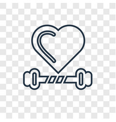 exercise concept linear icon isolated on vector image