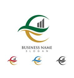 f letter logo template design vector image