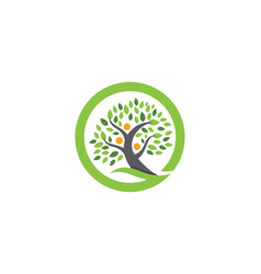 Family tree logo design template vector