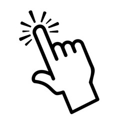 finger touch icon vector image