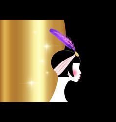 Flapper girl retro woman twenties retro party vector