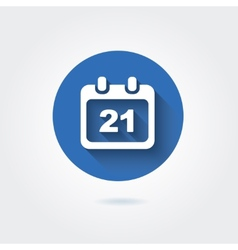 Flat icon - calendar with date vector