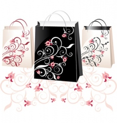 Floral bags vector