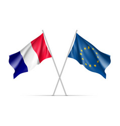 france and european union waving flags vector image
