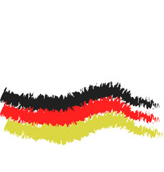 germany flag in carbon pencil version vector image