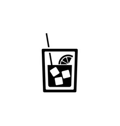 glass of whiskey icon vector image