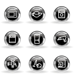 Glossy icon set 32 vector