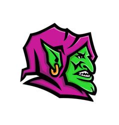 Goblin head mascot vector