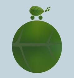 Green eco car vector