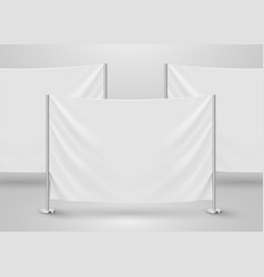 hanging empty white flag presentation or photo vector image