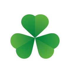 happy saint patricks day shamrock leaf isolated vector image