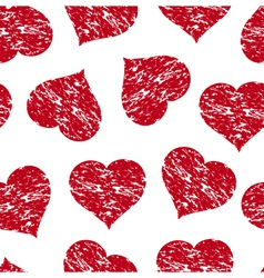 heart grunge pattern vector image