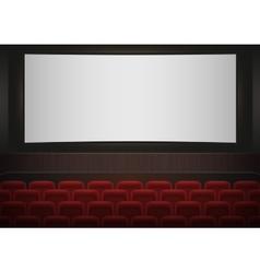 interior a cinema movie theatre red cinema or vector image