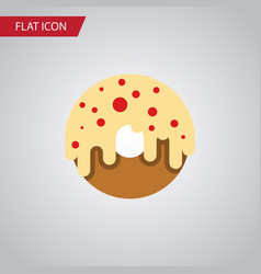 Isolated donuts flat icon doughnut element vector