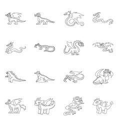 Isolated object asian and medieval logo set of vector