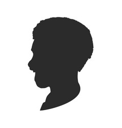 man face silhouette vector image