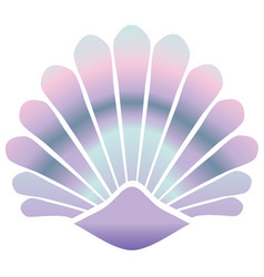mermaid shell vector image