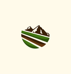 mountain landscaping view creative logo vector image