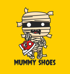 Mummy shoes logo and branding mummy bring shoes vector