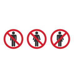 no entry man women sign vector image