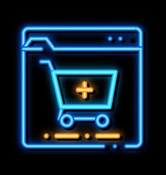 Online pills shop neon glow icon vector