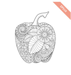 ornate cartoon bell pepper vector image
