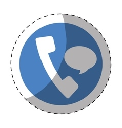 Phone with bubble service repair icon vector