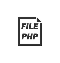 php file icon flat vector image