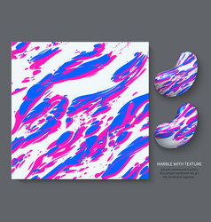 pink blue marble on a white background stylish vector image