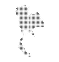 pixel map of thailand dotted map of thailand vector image