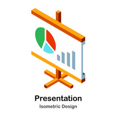 Presentation isometric vector