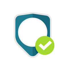 privacy secure shield icon or insurance vector image
