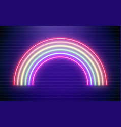 Rainbow neon bright vector