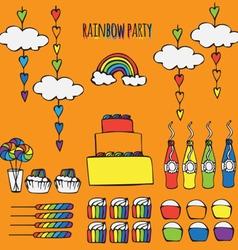 rainbow party ideas vector image