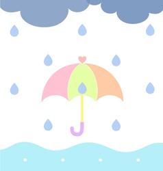 Rainy Cloudy vector image